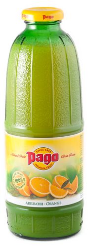 Сок Pago/Паго апельсин 0.75 л. (6 бут.) - основное фото