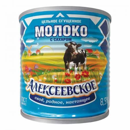 Молоко сгущенное вареное АЛЕКСЕЕВСКОЕ, 360г  - основное фото