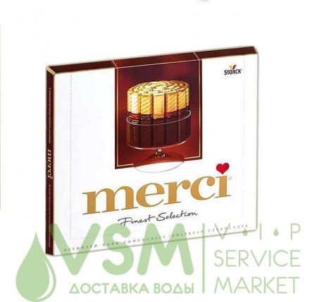 Конфеты Merci горький шоколад 250 гр.  - основное фото