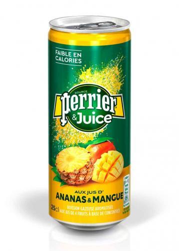 Перье / Perrier Ананас-манго 0,25 л. газ. (24 шт.) - основное фото
