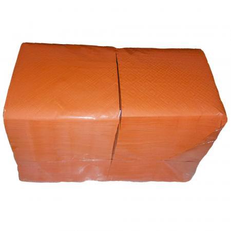 Салфетки Оранжевые бумажные, однослойные (400 шт) - основное фото