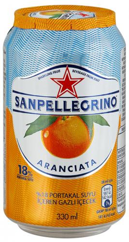 San Pellegrino Апельсин 0,33л. (24 шт.) - основное фото
