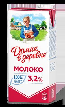 Молоко Домик в деревне 3,2% 950 мл  (12 шт) - основное фото
