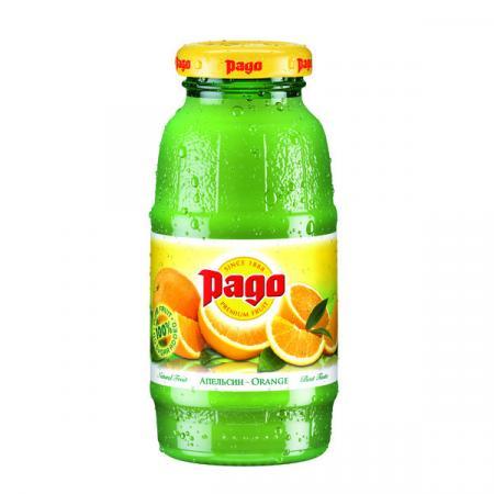 Сок Pago/Паго апельсин 0.2 л. (24 бут.) - основное фото