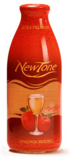 Сок NewTone/Ньютон Красное яблоко 0,75 (6 шт.) стекло - основное фото