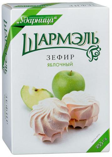Зефир Шармэль яблочный 255гр  - основное фото