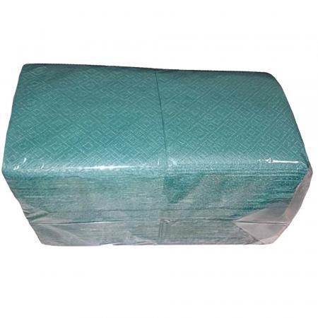 Салфетки Зеленые бумажные, однослойные (400 шт) - основное фото