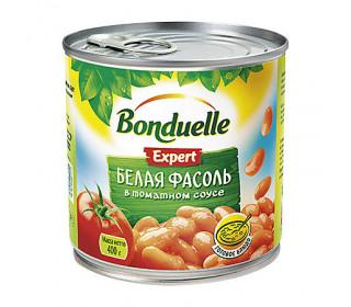 Фасоль белая в томатном соусе ж/б 400г. BONDUELLE - основное фото