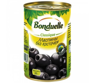 Маслины без косточки ж/б 300г. BONDUELLE - основное фото
