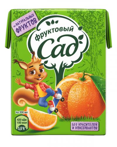 Фруктовый Сад апельсиновый 0,2 л. (27 шт.) - основное фото