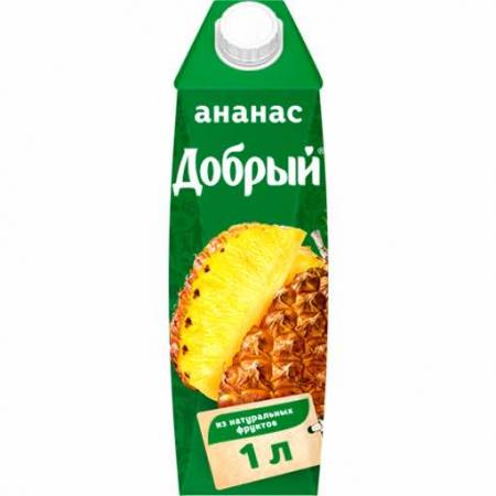 Сок Добрый Ананас 1л. (12 шт.) - основное фото