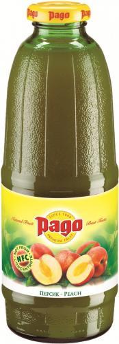 Сок Pago/Паго персик 0.75 л. (6 бут.) - основное фото