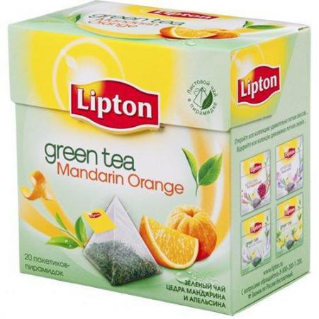Чай Липтон  Mandarin Orange  20 пир. (1 шт.) - основное фото