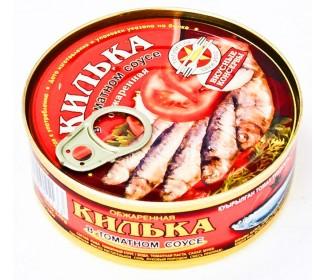 Килька в томатном соусе ж/б 240г. ВкусныеКонсервы - основное фото