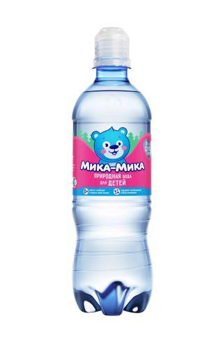 Мика-Мика Природная 0,5л, спорт, питьевая вода для детского питания, негазированная (12 бут) - основное фото