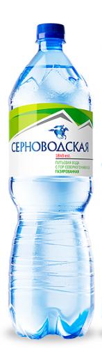 Серноводская горная питьевая 1,5л. газ. (6 бут) - основное фото