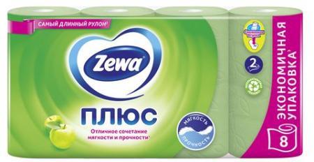 Туалетная бумага Zewa Плюс яблоко (8 шт) - основное фото