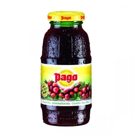 Сок Pago/Паго клюква 0.2 л. (24 бут.) - основное фото