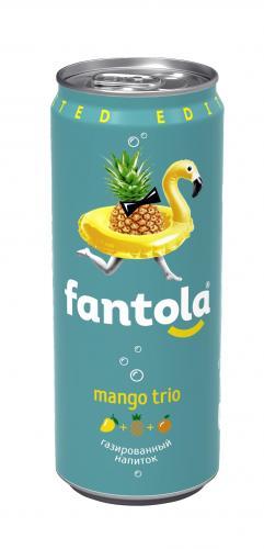Лимонад Fantola/Фантола Манго трио 0,33л (12шт) - основное фото