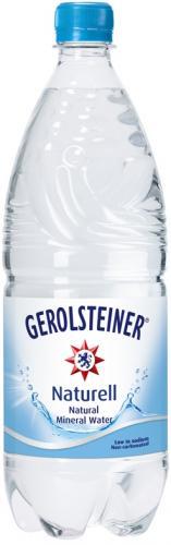 Gerolsteiner Naturell/Геролштайнер Натурель 1 л. без газа (6 бут) - основное фото