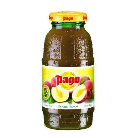 Сок Pago/Паго персик нектар 0.2 л. (24 бут.) - основное фото