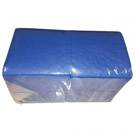 Салфетки Синие бумажные, однослойные (400 шт) - основное фото
