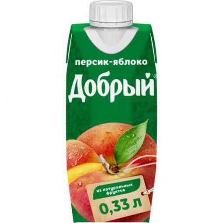 Сок Добрый Персик 0,33л. (24 шт.) - основное фото