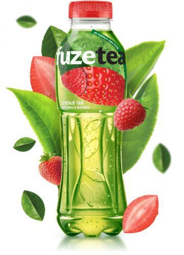 FUZE Tea Зеленый Клубника-Малина 0,5 л. (12 бут.) - основное фото
