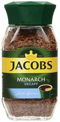 Jacobs Monarch Decaffeinated 95гр (1шт) стекло - основное фото