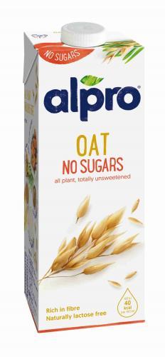 Alpro овсяный напиток без сахара, обогащенный кальцием и витаминами, 1л. 8шт. - основное фото