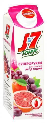 J7 Тонус Красный виноград и грейпфрут 0,9 л. (6 пак.) - основное фото