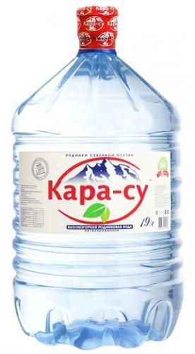 Кара-Су негазированная питьевая вода, ПЭТ, 19л - основное фото