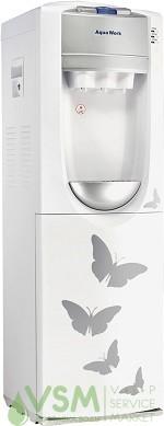 Кулер Aqua Work 712 S-B Белый с бабочками (холодильник 16 л.) - основное фото