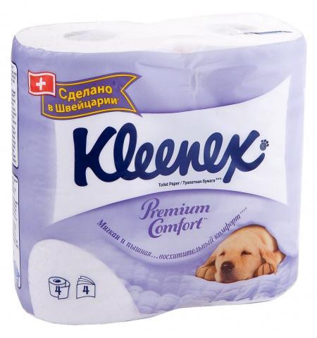 Туалетная бумага Kleenex premium comfort (4 шт) - основное фото