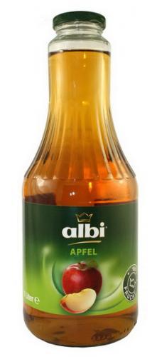 Сок Albi/Алби Яблочный 1 л. стекло (6 шт.) - основное фото
