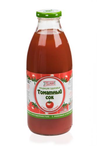 Сок Stelmas/Стэлмас 0.73л. томатный (8 шт.) стекло - основное фото
