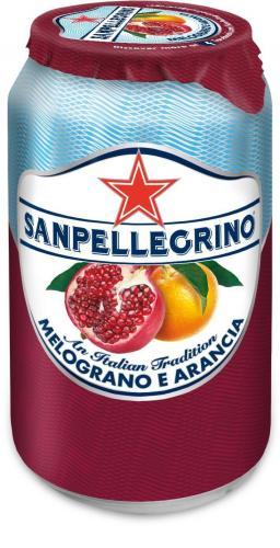 San Pellegrino / Сан Пеллегрино Гранат + апельсин 0,33л. (24 шт.) - основное фото