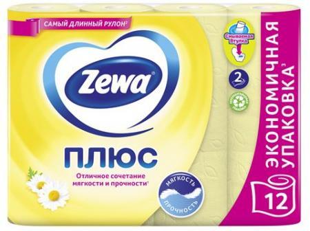 Туалетная бумага Zewa Плюс Ромашка (12 шт) - основное фото