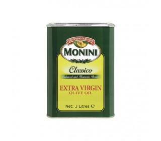 Масло оливковое MONINI Extra Virgin ж/б, 3л. - основное фото