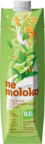 Nemoloko овсяный с зеленым чаем Матча напиток 1л. 12шт. - основное фото