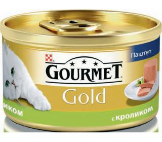 GOURMET/ Гурмэ Gold мусс с кроликом, 85 г, 24шт.  - основное фото