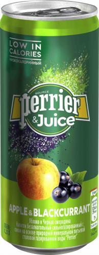 Перье / Perrier 0,25 л. яблоко-черная смородина газ. (24 шт.) - основное фото
