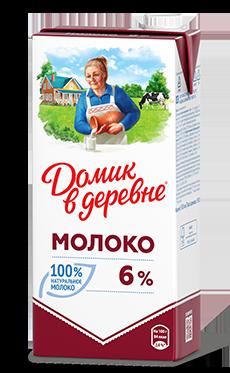 Молоко «Домик в деревне» 6% 950 мл (12шт) - основное фото