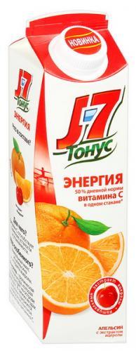 J7 Тонус Апельсин с экстрактом ацеролы 0,9 л. (6 пак.) - основное фото