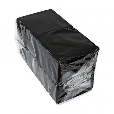 Салфетки Черные бумажные, однослойные (400 шт) - основное фото