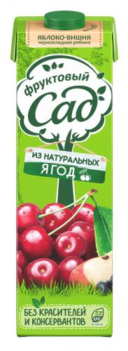 Фруктовый Сад яблоко - вишня - черноплодная рябина 0,95 л. (12 шт.) - основное фото