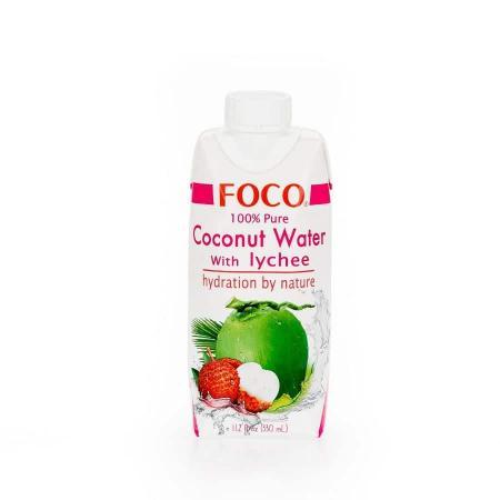 Вода кокосовая с соком личи