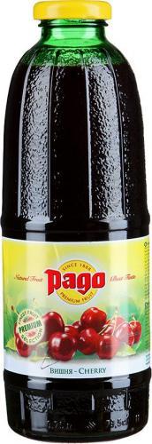 Сок Pago/Паго вишня 0.75 л. (6 бут.) - дополнительное фото