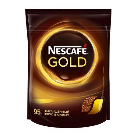 Nescafe Gold растворимый 95 гр (1шт) - дополнительное фото