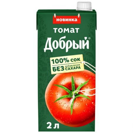 Сок Добрый Томат 2л (6 шт.) - дополнительное фото